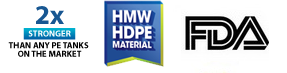 Tangki Excel HMW HDPE material
