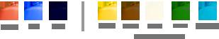 Pilihan warna tangki air Excel